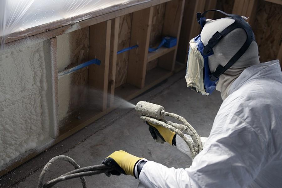spray foam insulation green attic
