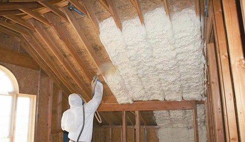 green attic spray foam insulation