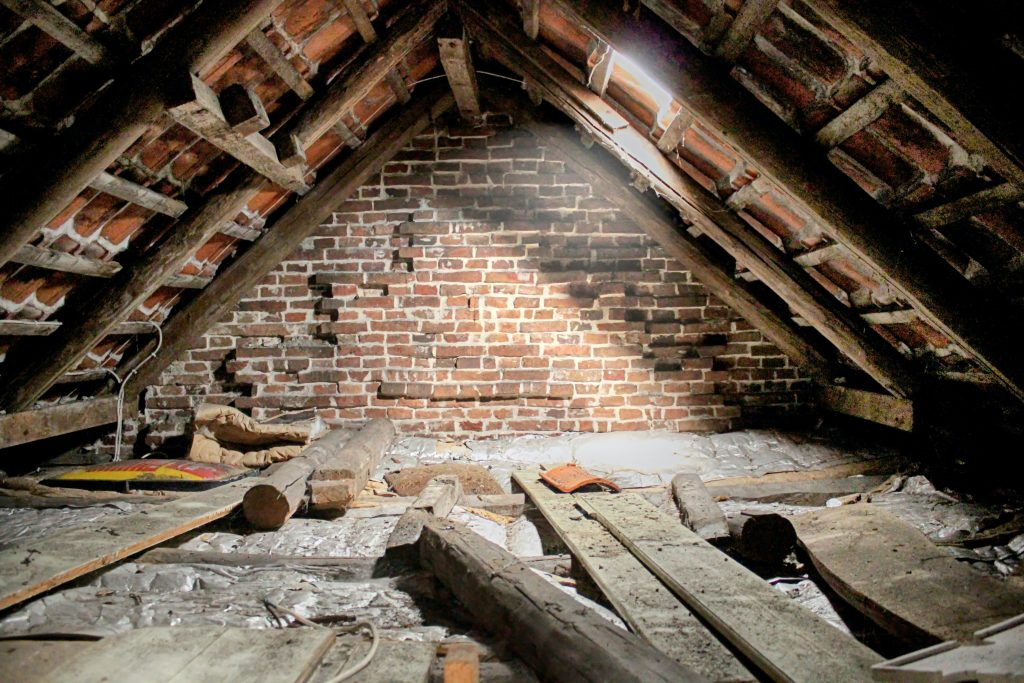 Uninsulated unfinished attic