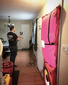 energy audit blower door test
