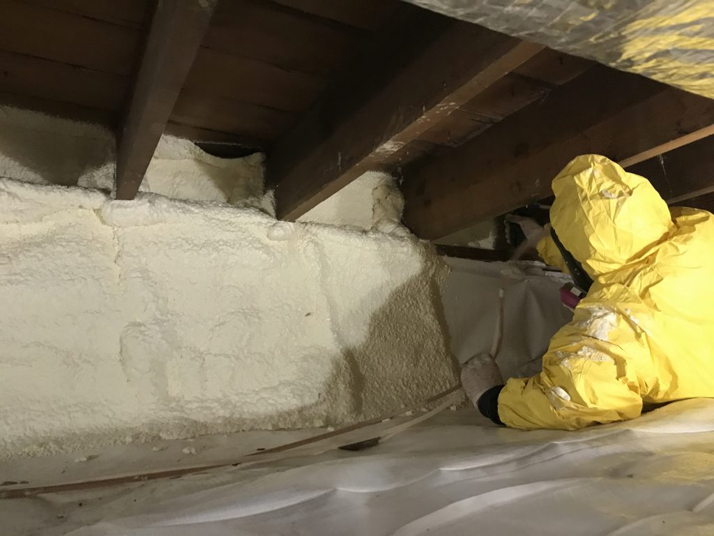 crawl space vents closed seal off crawl space insulate crawl space walls install vapor barrier