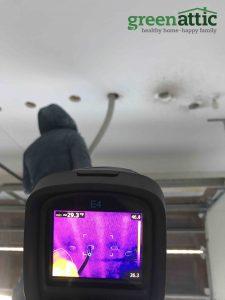 dense pack garage ceiling cellulose insulation