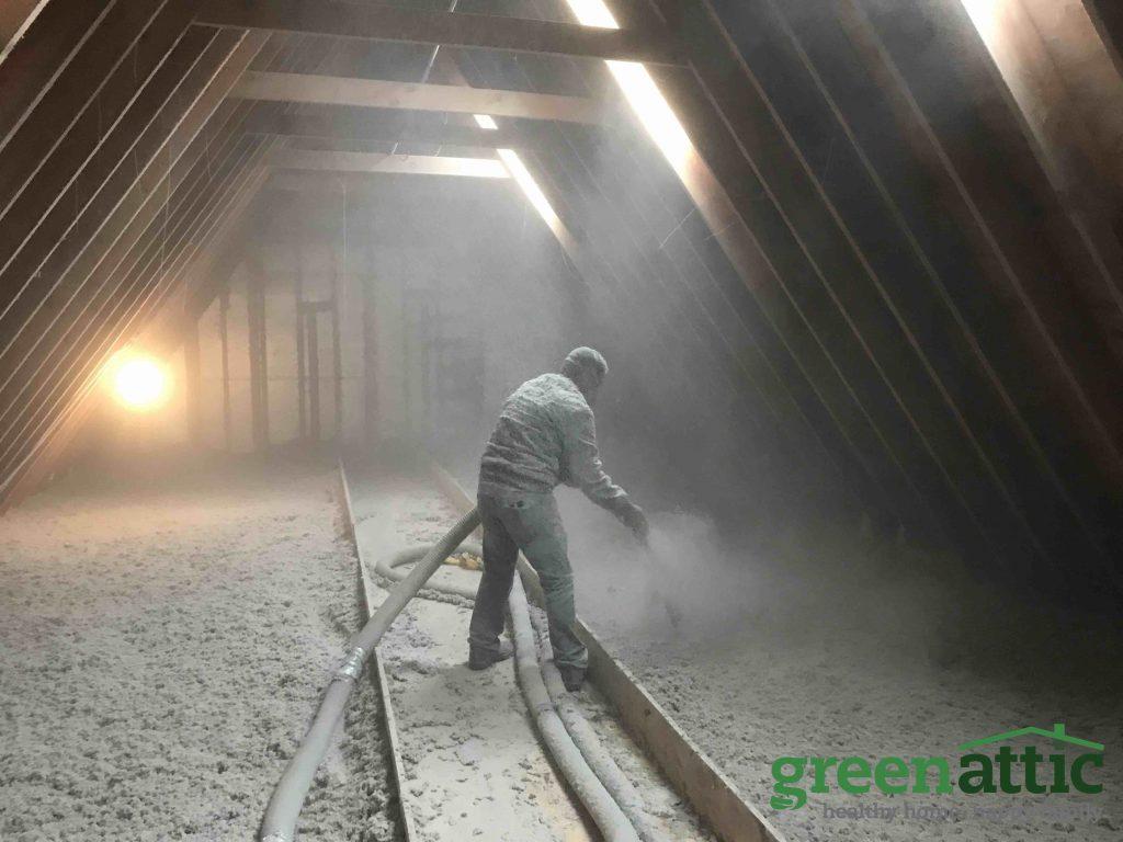 green attic insulation cellulose loose fill blown in insulation