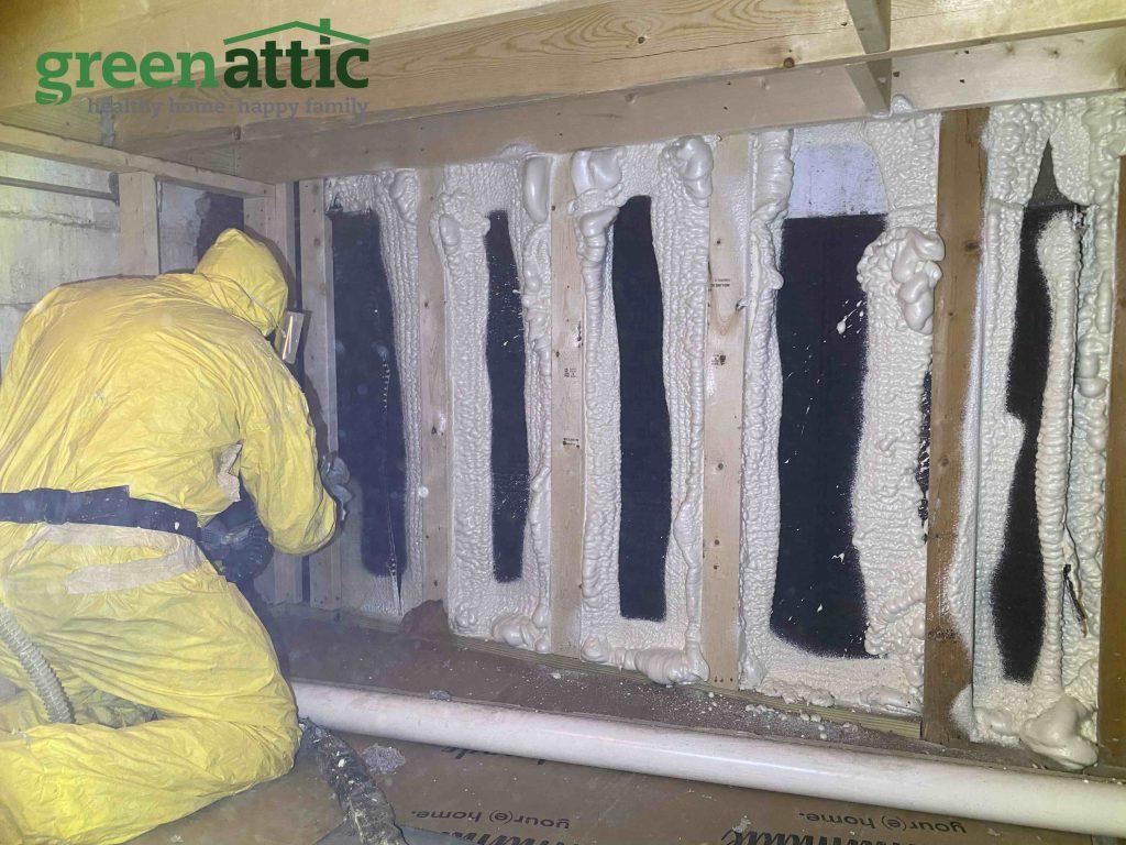 crawl space encapsulation closed cell spray foam green attic crawl space near