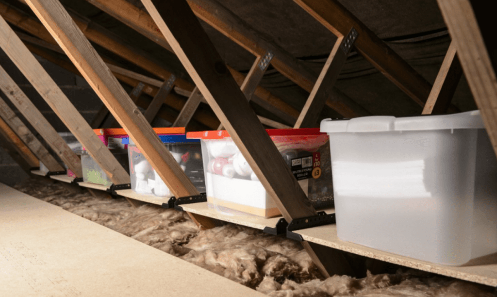 attic storage solutions stoage deck brace insulation green attic
