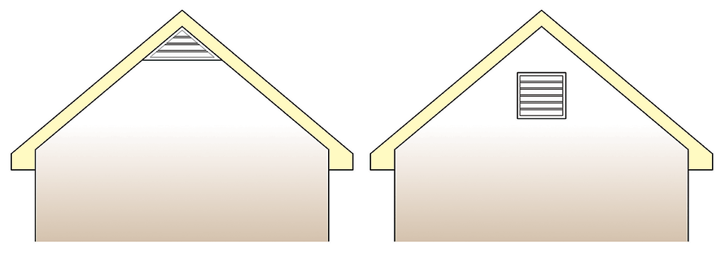gable vents courtesy of IBEC international institute of building enclosure consultants green attic insulation gable ventilation attic vents