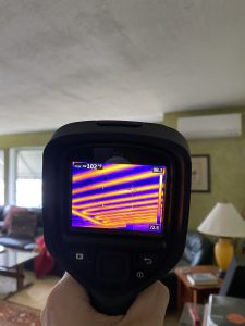 thermal imaging infrared inspection scan green attic insulation copyright radiant heating in ceiling